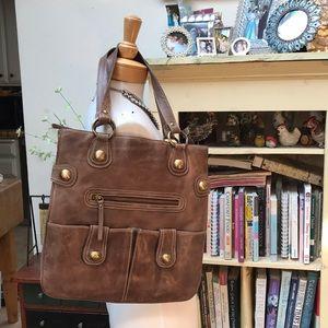 STRESS leather handbag